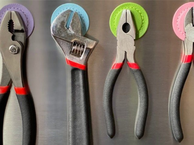 Heavy-Duty Magnetic Tool Holders - The 'Mighty Little Magnets' Position Tools Right on the Fridge (TrendHunter.com)