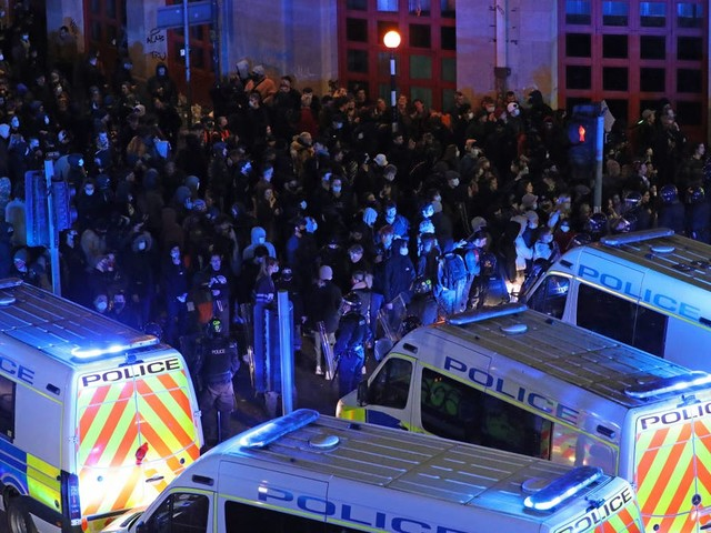 Man charged over 'homemade spear' at 'Kill the Bill' riot in Bristol