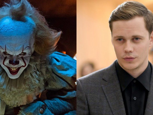 The actor behind the terrifying clown in 'It' is super hot without his makeup