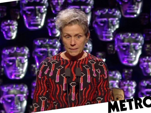 Frances McDormand praises Three Billboards-style activism in rousing Baftas acceptance speech