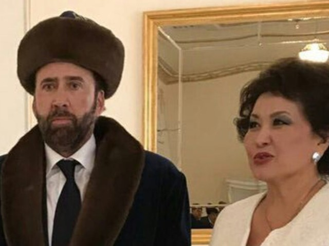 The Internet Is Going Wild Over This Photo of Nicolas Cage in Kazakhstan