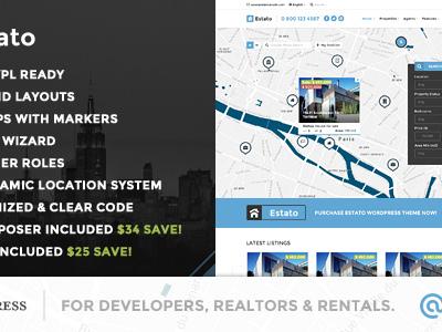 Estato - WordPress Theme for Real Estate and Developers (Real Estate)