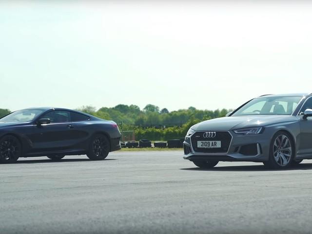 Video: BMW M850i xDrive Drag Races Audi RS4