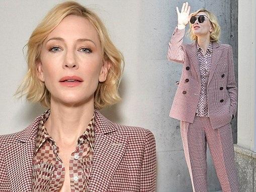 Cate Blanchett attends Giorgio Armani SS18 runway for MFW