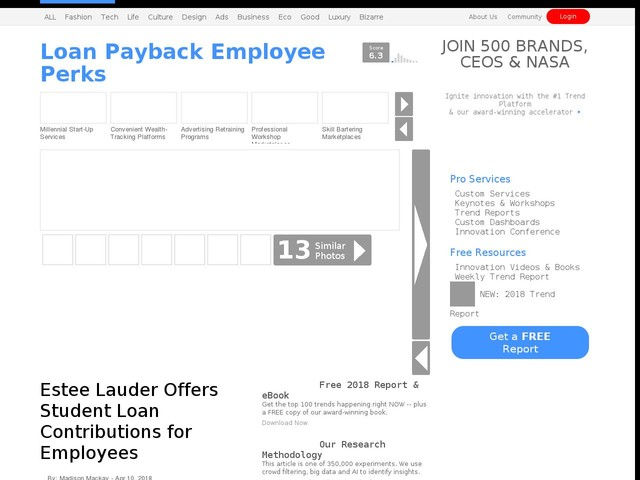 Loan Payback Employee Perks - Estee Lauder Offers Student Loan Contributions for Employees (TrendHunter.com)