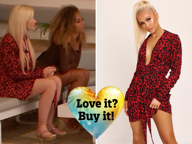 What are the Love Island 2019 girls wearing tonight? Where to buy Amy Hart's £30 red leopard-print dress