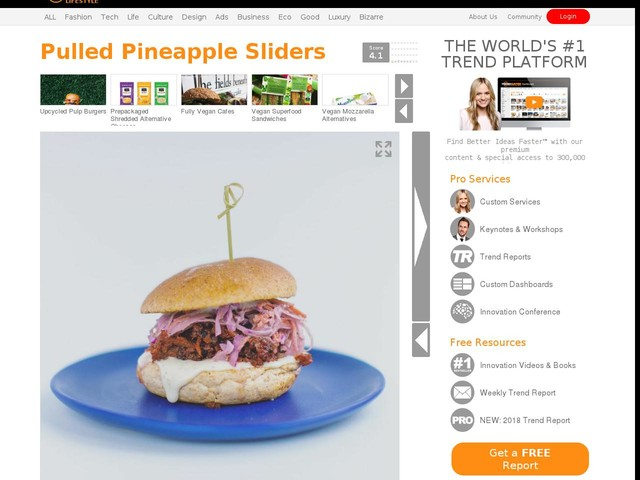Pulled Pineapple Sliders - 'Hello 123' Serves a Vibrant Plant-Based Alternative to Pulled Pork (TrendHunter.com)