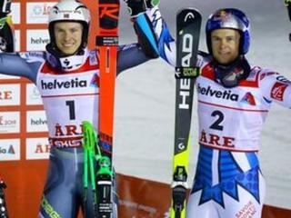 Kristoffersen topples Hirscher to win GS gold at ski worlds