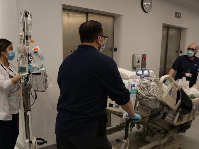 New York City hospitals are 11 days from running out of beds as the number of new coronavirus cases explodes