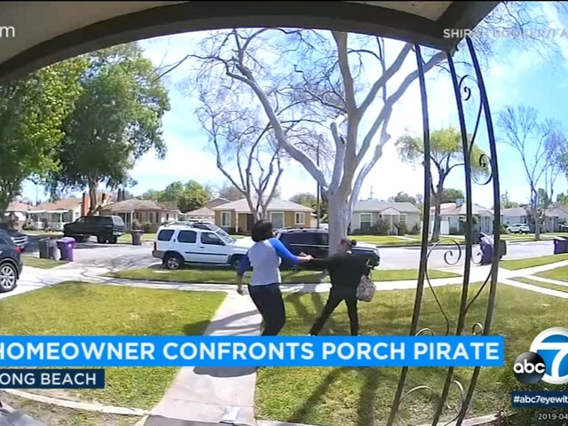 VIDEO: Homeowner confronts, chases off suspected porch pirate