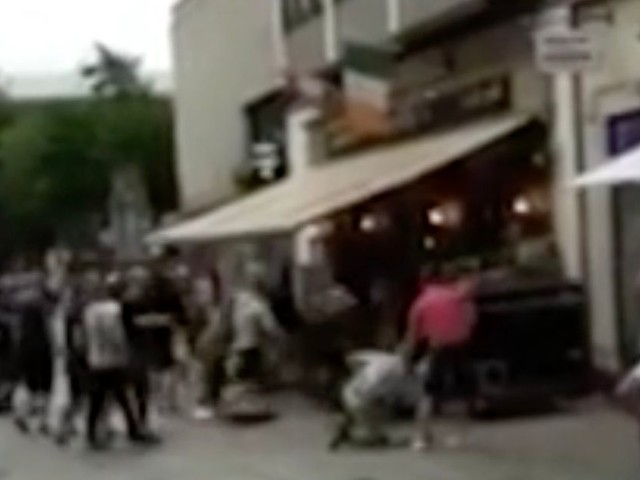 Shocking footage emerges of Aston Villa fans attacked on pre-season tour of Germany