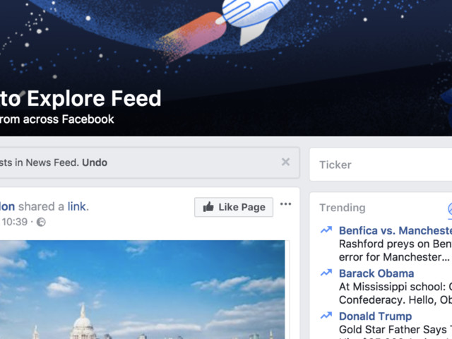 Facebook Now Has A Second News Feed Called 'Explore Feed'