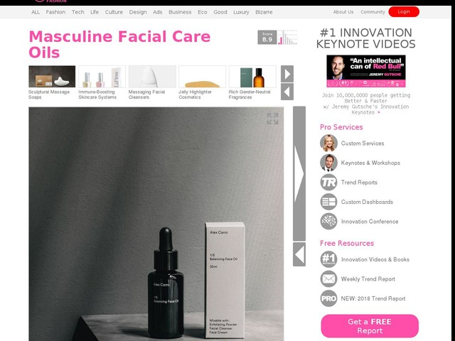 Masculine Facial Care Oils - The Alex Carro Balancing Face Oil Balances Your Natural Oil Levels (TrendHunter.com)
