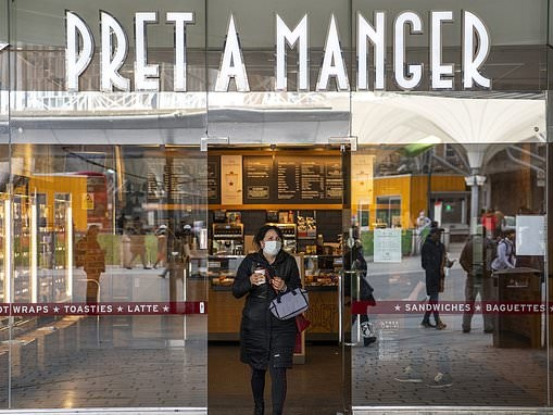 Pret asks staff to slash hours by a fifth as workers' slow return to the office hampers its recovery