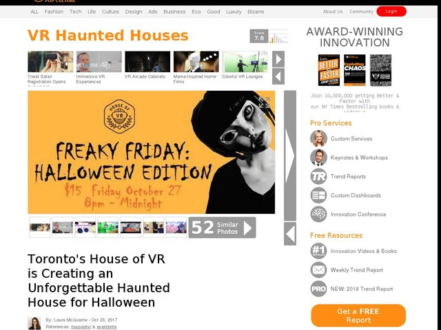 VR Haunted Houses - Toronto's House of VR is Creating an Unforgettable Haunted House for Halloween (TrendHunter.com)