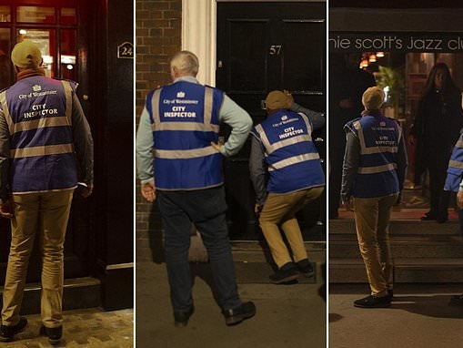 City Inspectors peer through letter boxes on the hunt for illegal lock-ins after 10pm Covid curfew