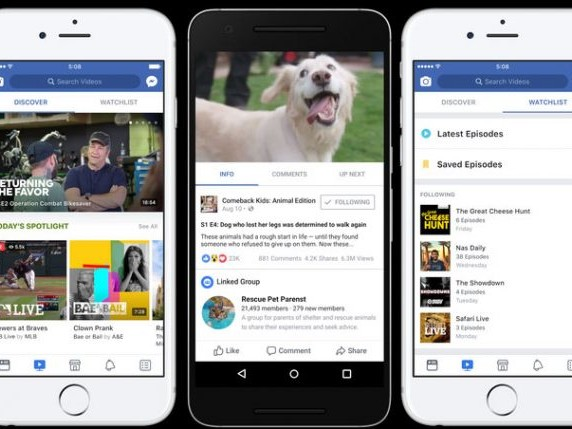 Facebook Watch Tab Launches for Original Video Content