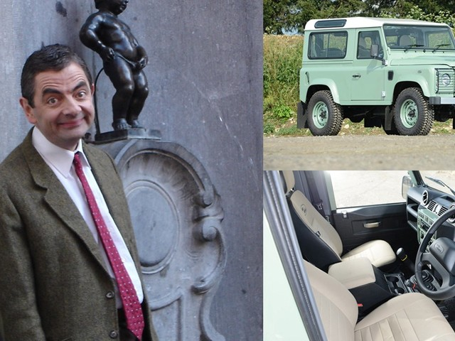 Rowan Atkinson's (Mr. Bean) Limited Edition Land Rover Defender 90 Heritage Is Up For Auction