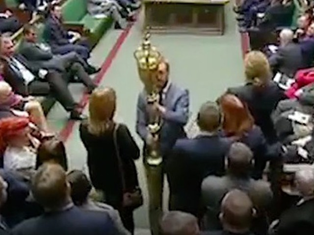 Labour's Lloyd Russell-Moyle picks up mace in Brexit protest in House of Commons