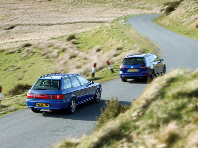 Audi RS2 Avant vs Volkswagen Golf R Estate - comparison