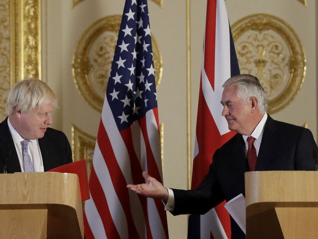 Rex Tillerson Throws Boris Johnson Diplomatic Lifeline After Days Of Continuous Bashing