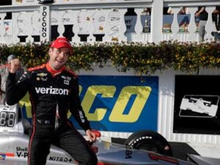 Power holds off Penske teammate Newgarden to win at Pocono