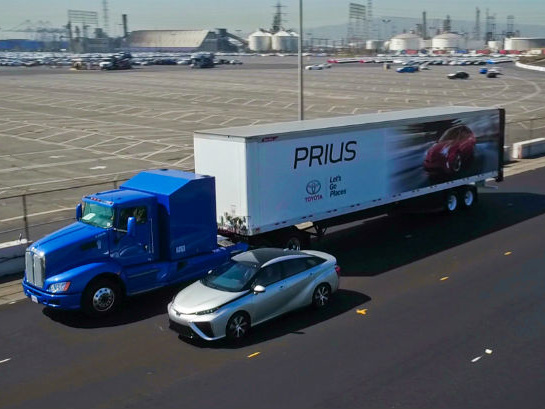 Never Minding Tesla's Delayed Semi, Toyota Calls Its FCV Big Rig 'The Future'