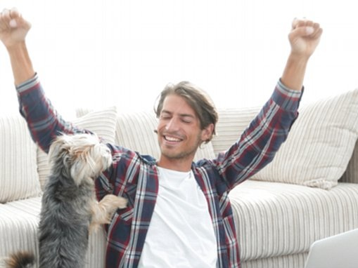 Dogs can smell when you are happy or frightened