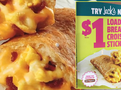 Egg-Stuffed Pastry Pockets - Jack in the Box Has Begun Selling a Loaded Breakfast Croissant Stick (TrendHunter.com)