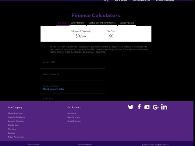 Car Loan Calculator With Tax And Interest