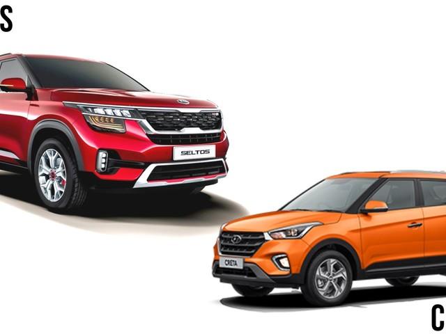 Kia Seltos vs Hyundai Creta – Price, Specs & Dimensions Comparison