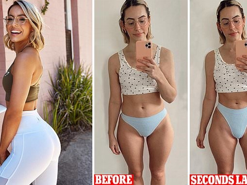 Personal trainer shares images of her body to show why 'transformation' pictures AREN'T real