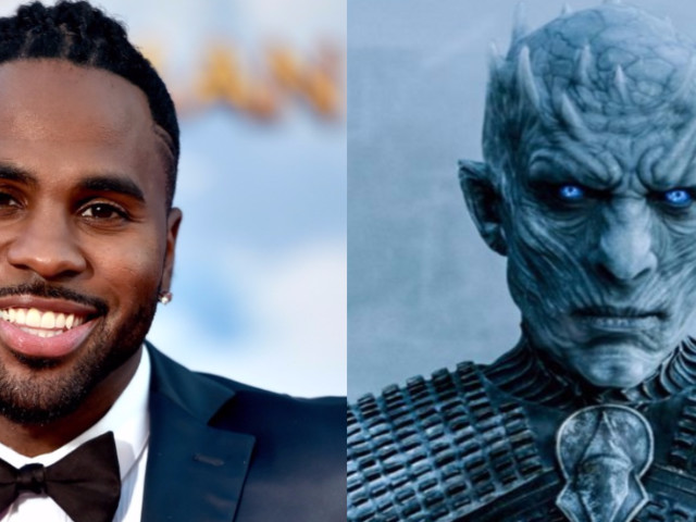 Jason Derulo dressed up as the Night King from 'Game of Thrones' for Halloween, and he's unrecognizable in the photos of his costume