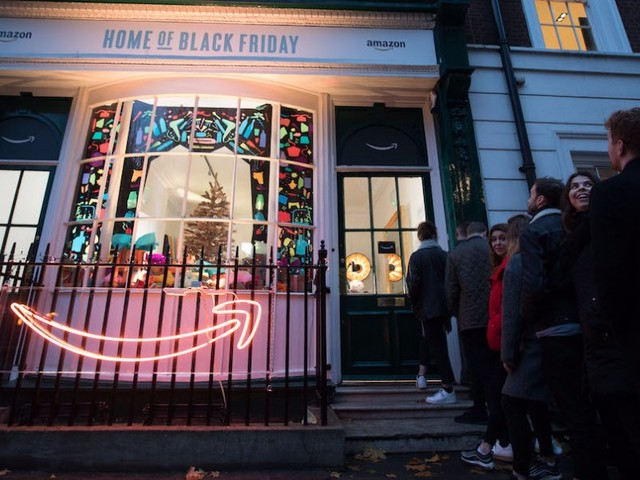 Amazon has opened a pop-up store in London's Soho Square (AMZN)