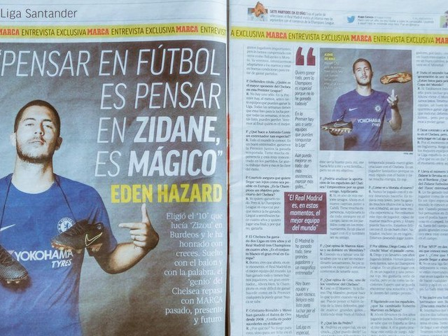 Eden Hazard talks Chelsea, Zidane, Real Madrid in exclusive interview with Marca