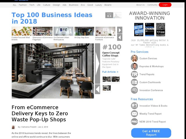Top 100 Business Ideas in 2018   From eCommerce Delivery Keys to