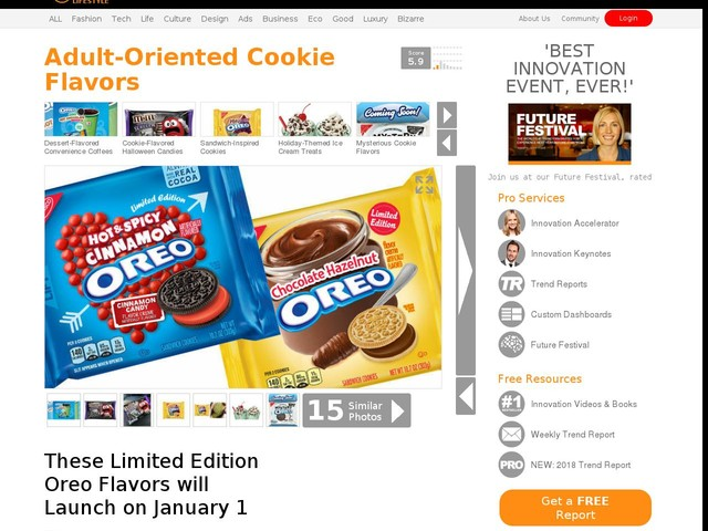 Adult-Oriented Cookie Flavors - These Limited Edition Oreo Flavors will Launch on January 1 (TrendHunter.com)