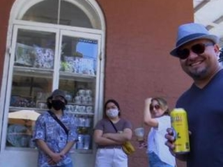 Some New Orleans tourists are shedding masks