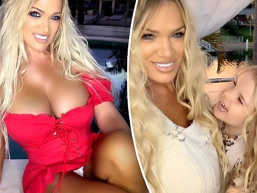 The World's Hottest Grandma Gina Stewart, 48, poses with five-year-old daughter Summer