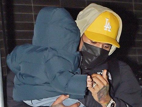 Chris Brown's Son Aeko, 1, Is So Tall As He Shows Off His Adorable Bun