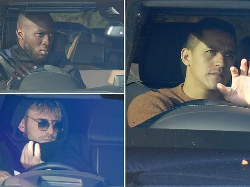 Manchester United stars arrive for training ahead of Juventus clash