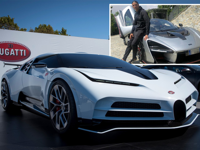 Cristiano Ronaldo 'splashes out £8.5m on a limited edition Bugatti Centodieci' – one of just ten models ever created