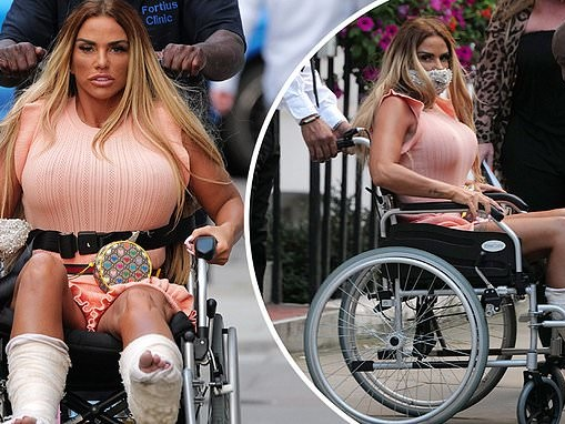 Katie Price reveals she's 'gutted' after receiving 'devastating' news about broken feet
