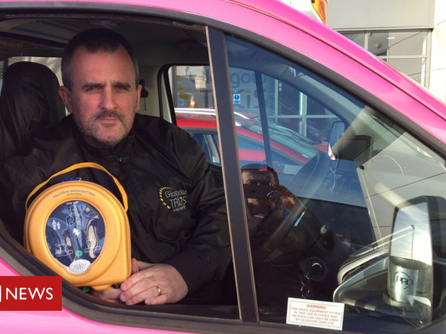 Cardiac arrest defibrillators installed in 15 Glasgow taxis