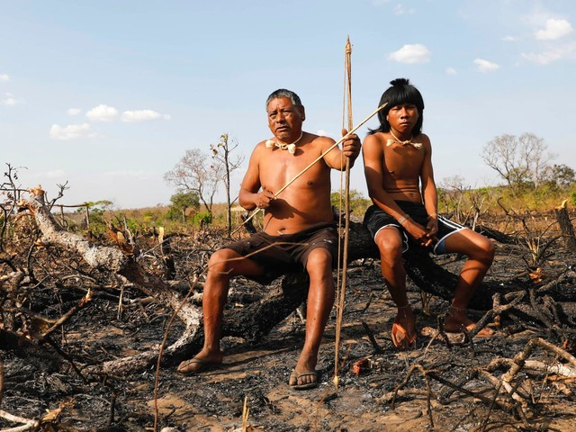 Stunning photos show the reality for indigenous people living in the Amazon as fires burn