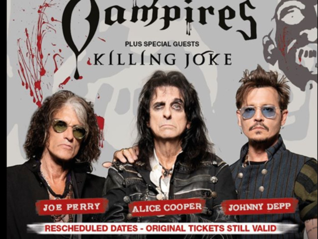 Killing Joke to special guest on 2021 Hollywood Vampires UK dates