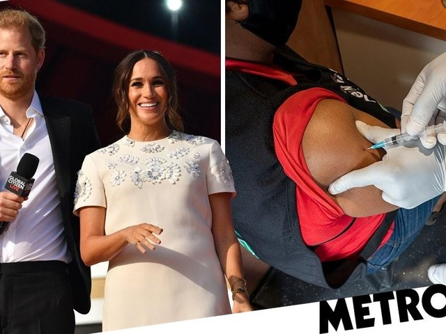 Harry and Meghan slam 'ultra-wealthy' vaccine firms on first post-Megxit trip