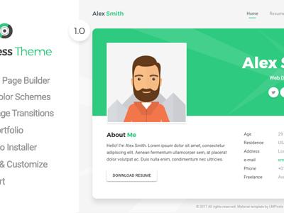 Aveo - Resume, CV, vCard & Portfolio Theme (Portfolio)