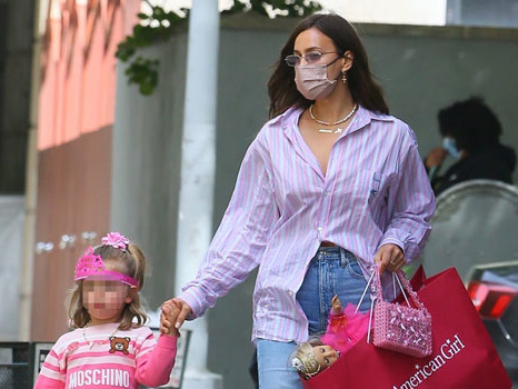 Bradley Cooper's Daughter, Lea, 4, Holds Her 'Twin' Doll In Princess Tiara & All Pink With Mom Irina Shayk