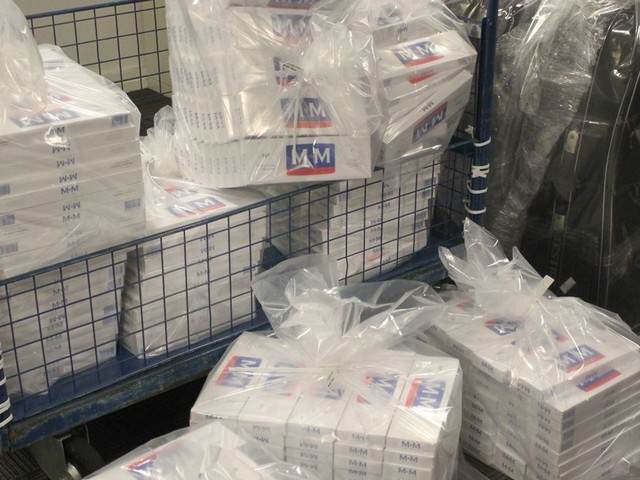 Man caught trying to smuggle 90,000 cigarettes through Manchester Airport
